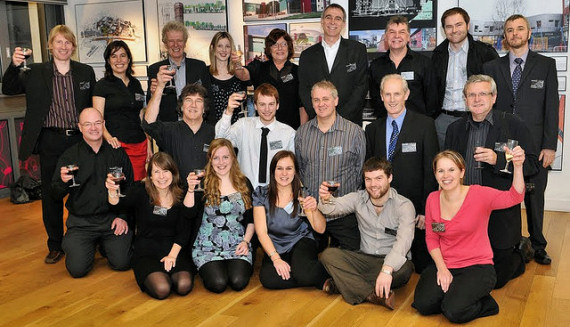 AGa team at 30 years exhibition