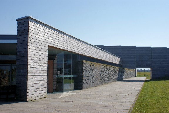 Projecting stones in wall at Culloden Visitor Centre